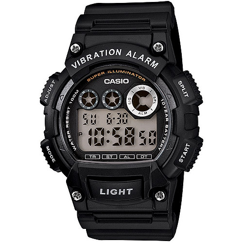 Casio Men's Sport Digital Watch, Black Resin Strap