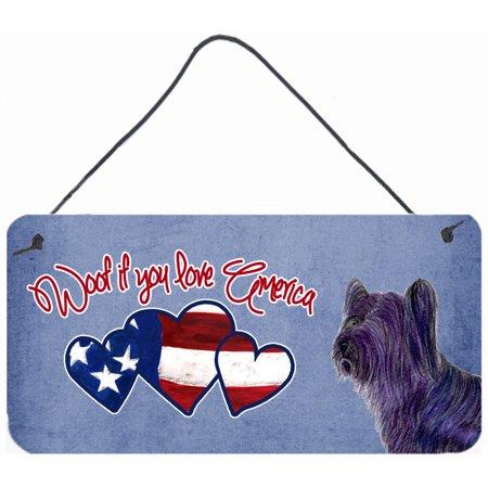 Woof if you love America Skye Terrier Wall or Door Hanging Prints SS4975DS612