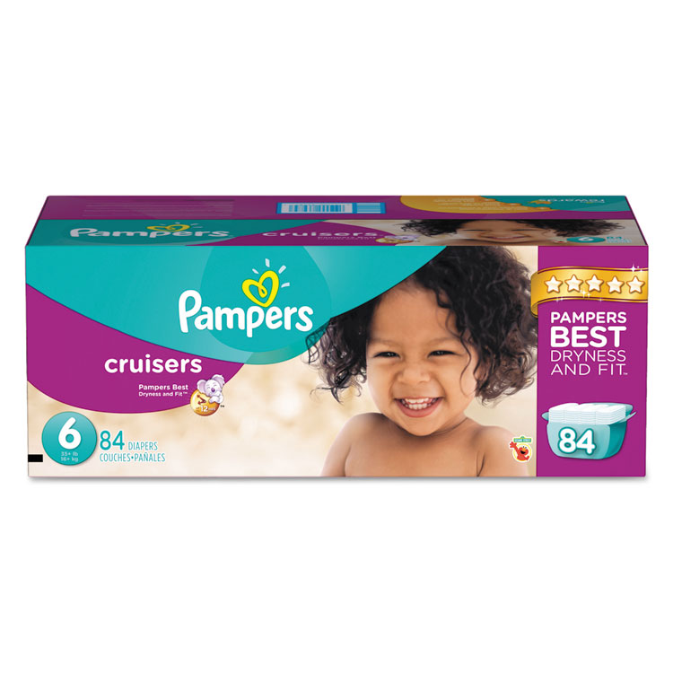 Cruisers Diapers, Size 6: 35 43 Lbs, 84 carton by PROCTER %26 GAMBLE