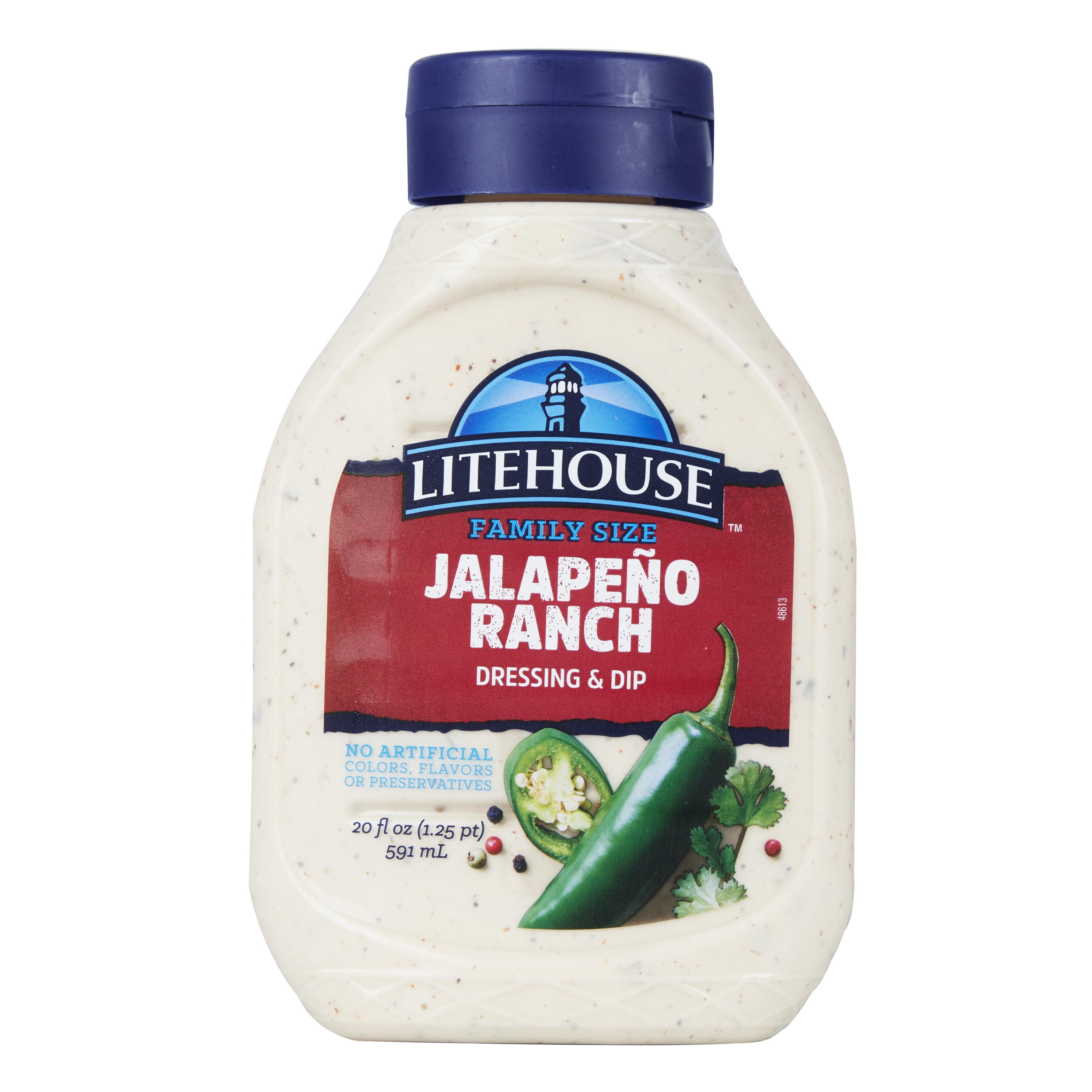 Litehouse Mild Jalapeno Ranch Dressing & Dip, 20 oz Squeeze Bottle