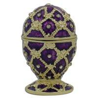 BestPysanky Purple Trellis Royal Inspired Russian Easter Egg 2.5 Inches
