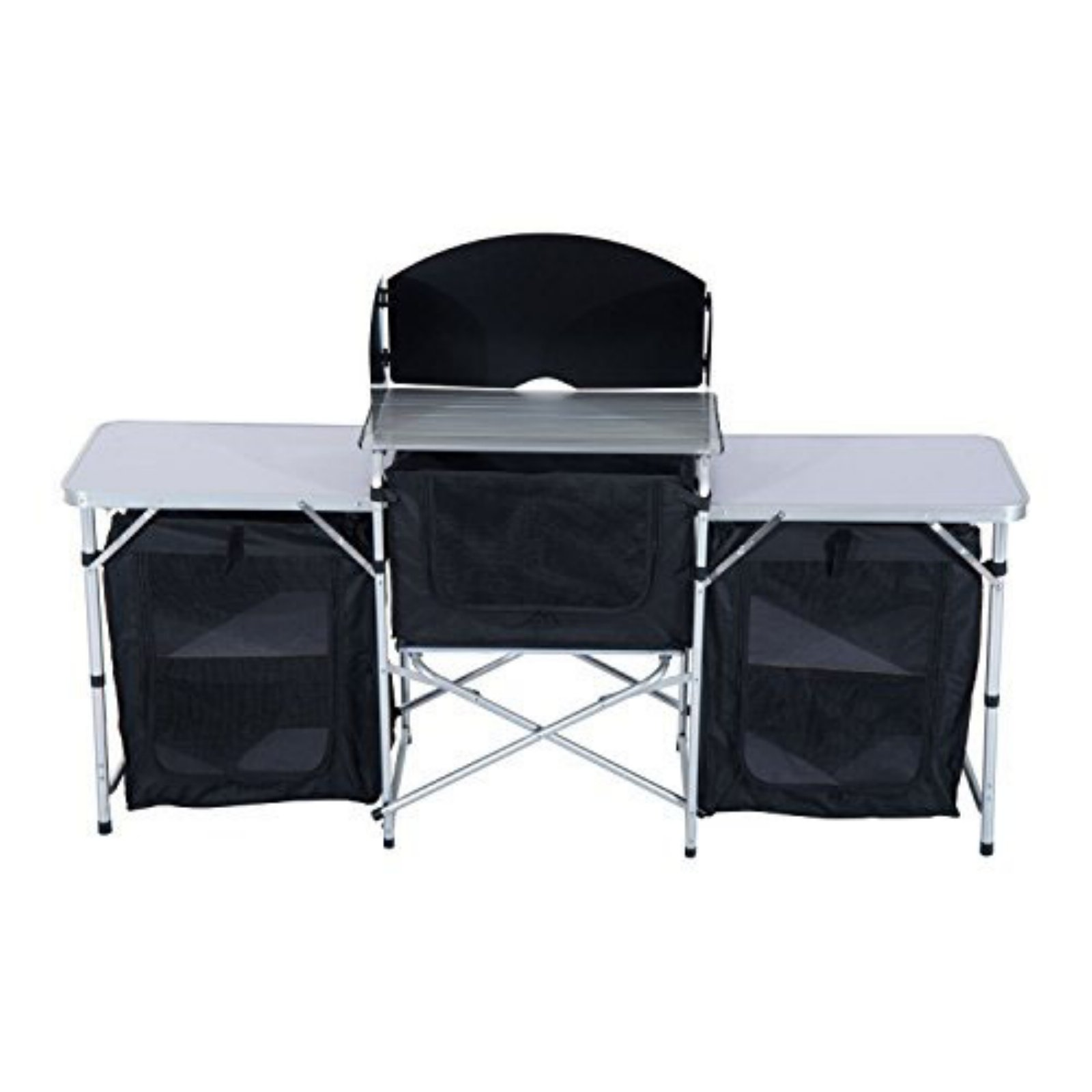 Click here to buy Outsunny 6ft. Deluxe Portable Fold-Up Camp Kitchen with Windscreen by Aosom.