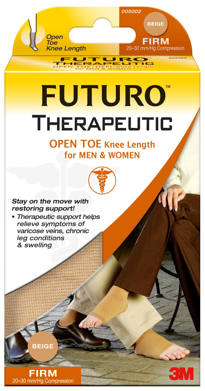 8aed6fac375 FUTURO Therapeutic Open Toe Knee Length Stockings for Men   Women ...