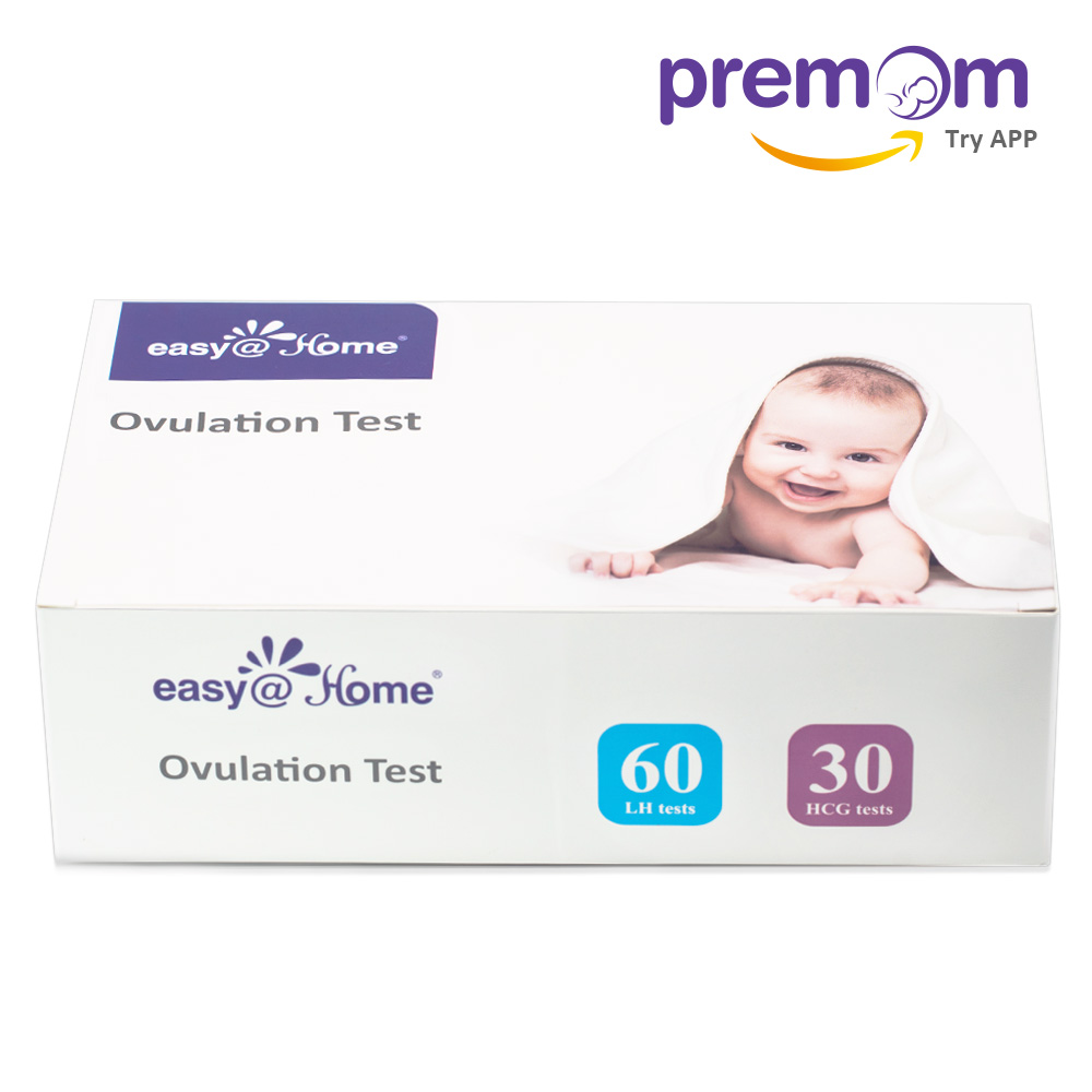 Easy@Home 60 Ovulation Test Strips and 30 Pregnancy Test Strips Combo Kit, (60 LH + 30 HCG)