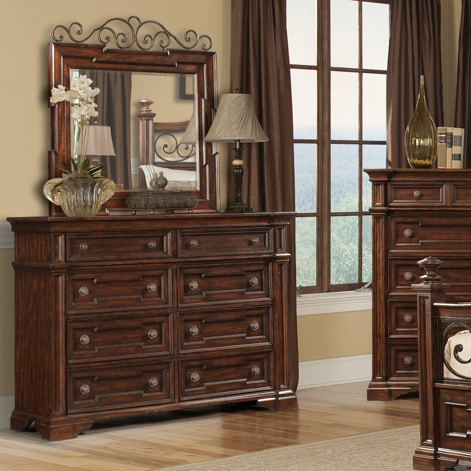 Klaussner San Marcos 8 Drawer Dresser - Dark Cherry