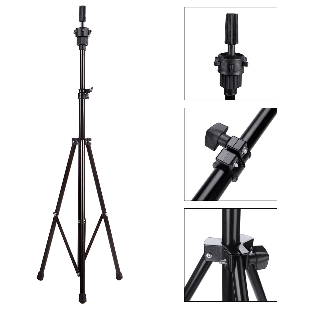 Abody Adjustable Hairdressing Training Wig Tripod Mannequin Head Stand