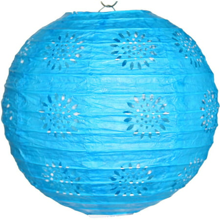 Lace Paper Lantern Teal, Set of 3