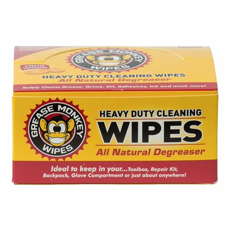 Grease Monkey Individual Heavy-Duty Cleaning Wipes, 12-Count