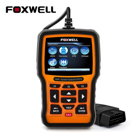 Foxwell NT510 OBD2 Scanner for BENZ Mercedes Sprinter Smart Oil Reset Transmission ABS SRS Airbag EPB SAS DPF TPMS TPS TBA Battery Registration Check Engine Light OBD 2 Diagnostic Scan (Best Airbag Scan Tools)