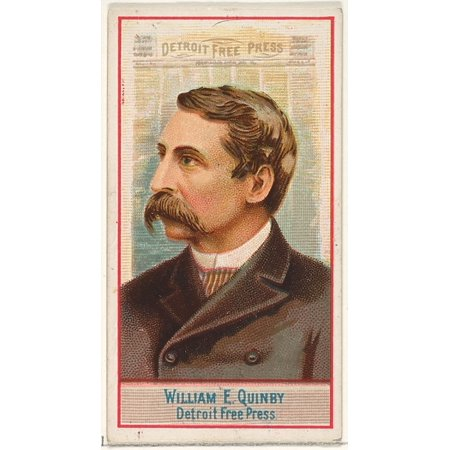 William E Quinby Detroit Free Press From The American Editors Series  N1  For Allen   Ginter Cigarettes Brands Poster Print  18 X 24