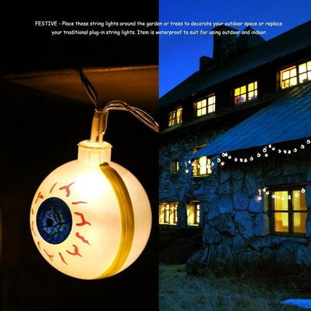 cnmodle Garden Decoration String Lights 10 LED Ghost Eyes Ball Fairy String Light - eyeball - Led Eyeball
