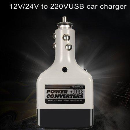 Dc 12 24V To Ac 220V Usb Car Mobile Power Inverter Adapter For Mobile Phones