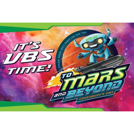 VBS 2019 to Mars and Beyond Invitation Postcards