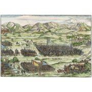 Germany Troops 1532 Ngerman Forces Marching Against The Turks In 1532 Contemporary German Colored Woodcut Poster Print by Granger Collection