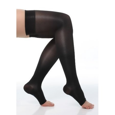 Briteleafs Sheer Compression Stockings Thigh High Firm