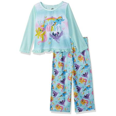 My Little Pony Girls' Forever Happy Toddler 2-Piece Pajama Set, Pony Blue, Size: 2T](My Little Pony Girls Pajamas)