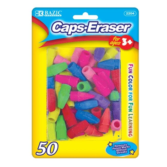 Bazic Products 2204-72 BAZIC Neon Eraser Top - 50-Pack Case of 72