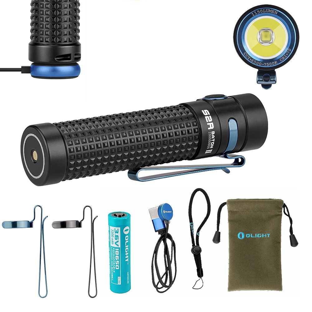 Olight S2R II Baton 1150 Lumen magnetic Rechargeable LED Flashlight