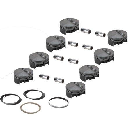 MAHLE 930200660 Forged Flat Top Pistons, 4.060 Bore, SBC