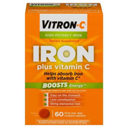 Vitron-C High Potency Iron Supplement with Vitamin C, 60 (Iron Supplements For Kids That Taste Good)
