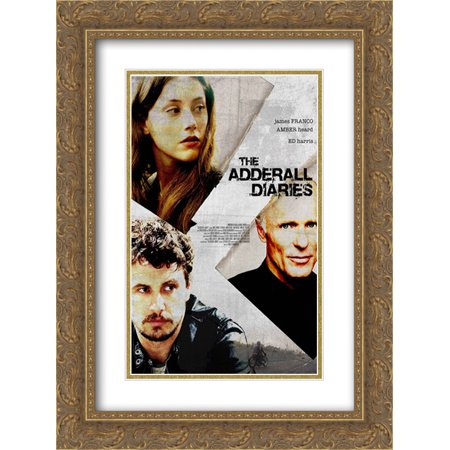 The Adderall Diaries 18X24 Double Matted Gold Ornate Framed Movie Poster Art Print
