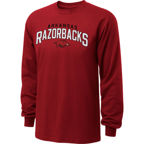 NCAA - Arkansas Razorbacks Cardinal Just Gateway Long Sleeve T-Shirt