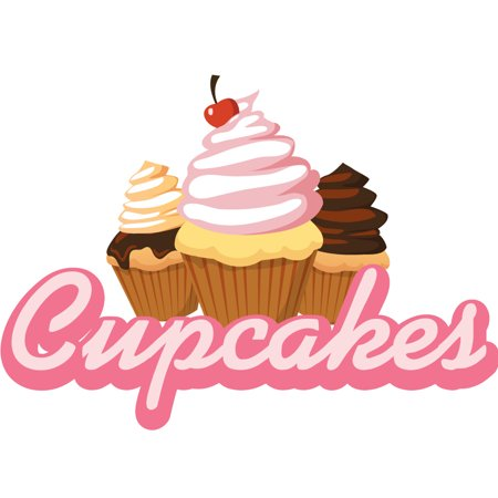 cupcakes Concession Decal sign cart trailer stand sticker equipment