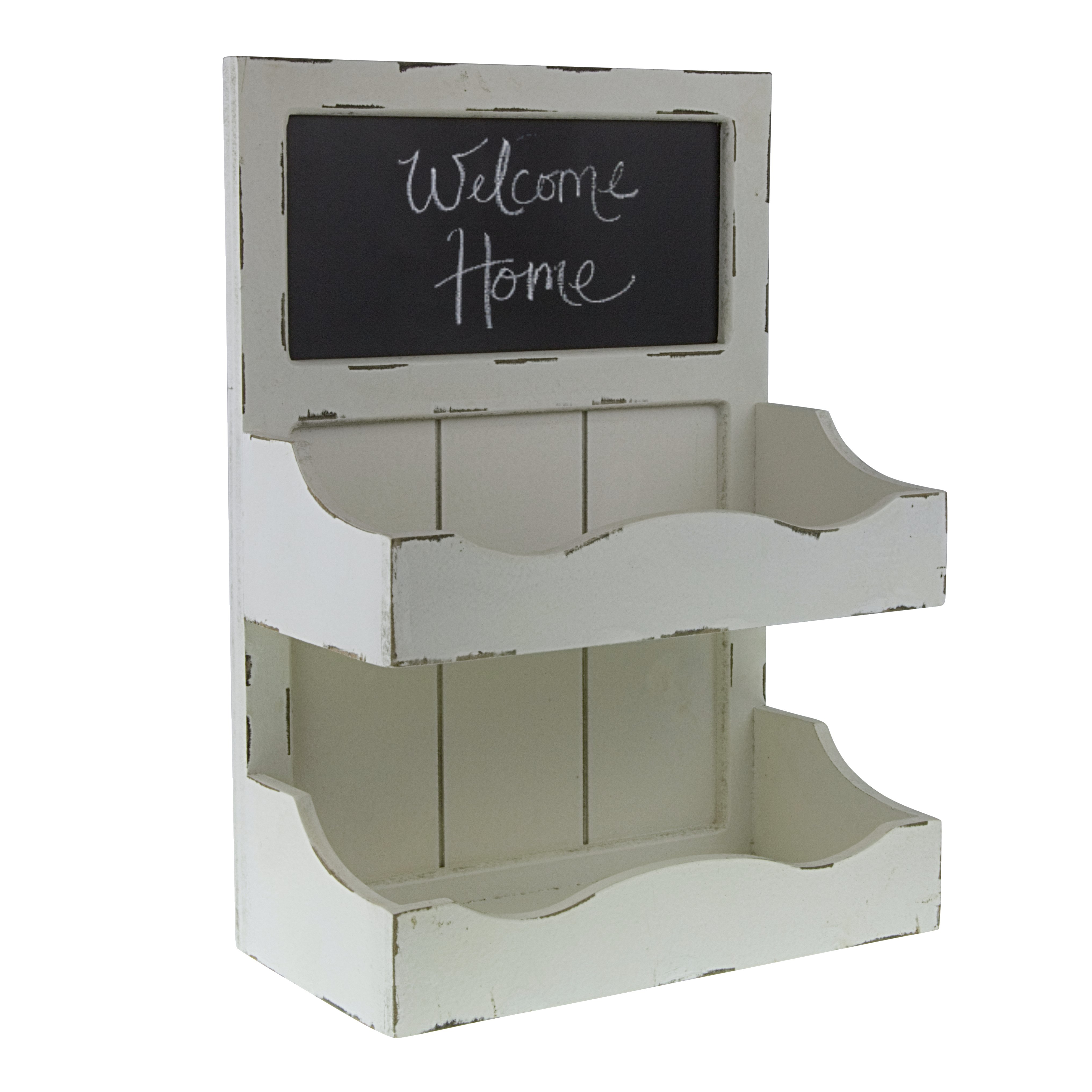 Decor Works Wood Wall Organizer With Chalkboard And Two
