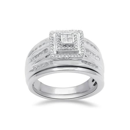 1/4 Carat T.W. Diamond Sterling Silver Bridal - Bridal Catalogs