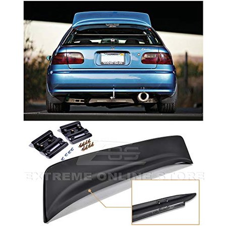 Extreme Online Store for 1992-1995 Honda Civic 3Dr Hatchback BYS Style ABS Plastic Rear Roof Wing Spoiler Lip