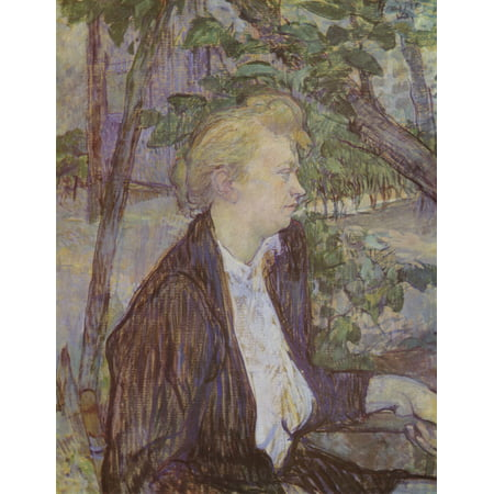 Framed Art for Your Wall Toulouse -Lautrec, Henri de - Woman in the Garden 10 x 13