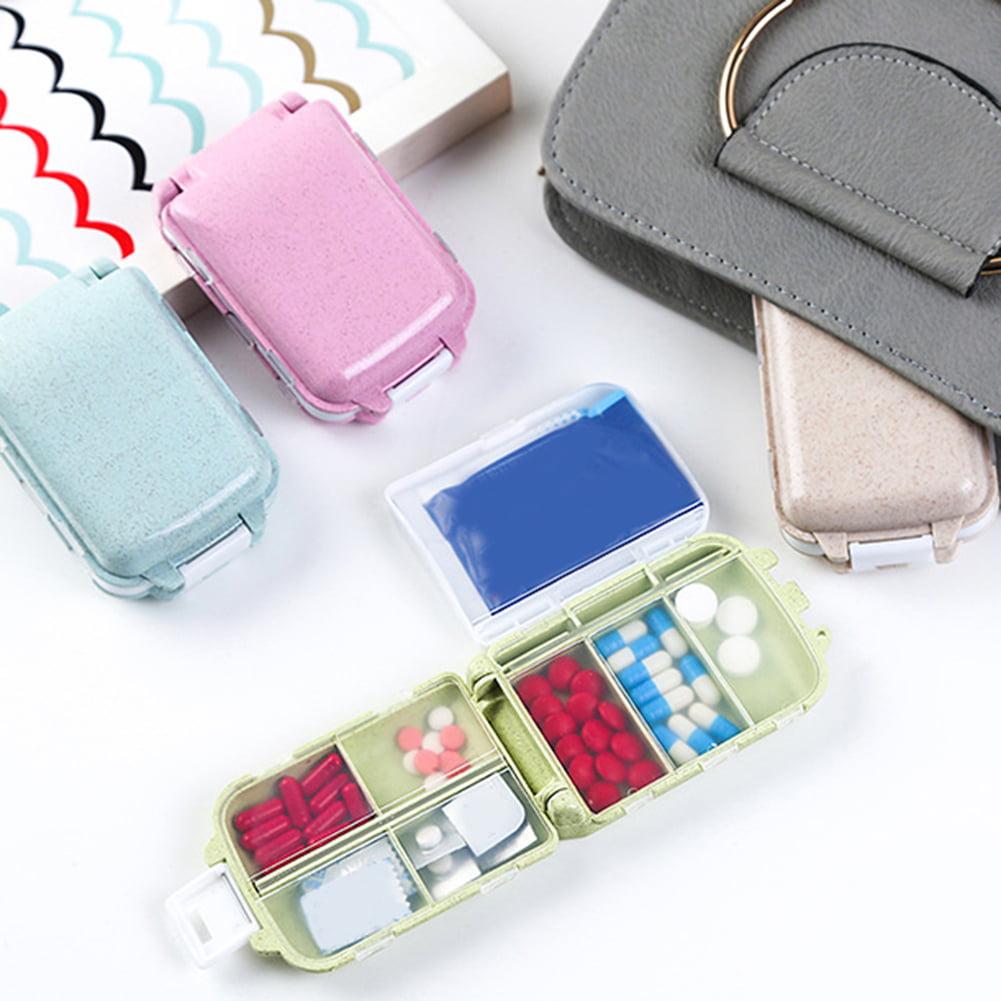 Moderna Portable 8 Compartments Travel Pill Medicine Storage Organizer Box Holder Case