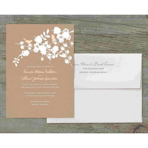 Love Birds Deluxe Wedding Invitation