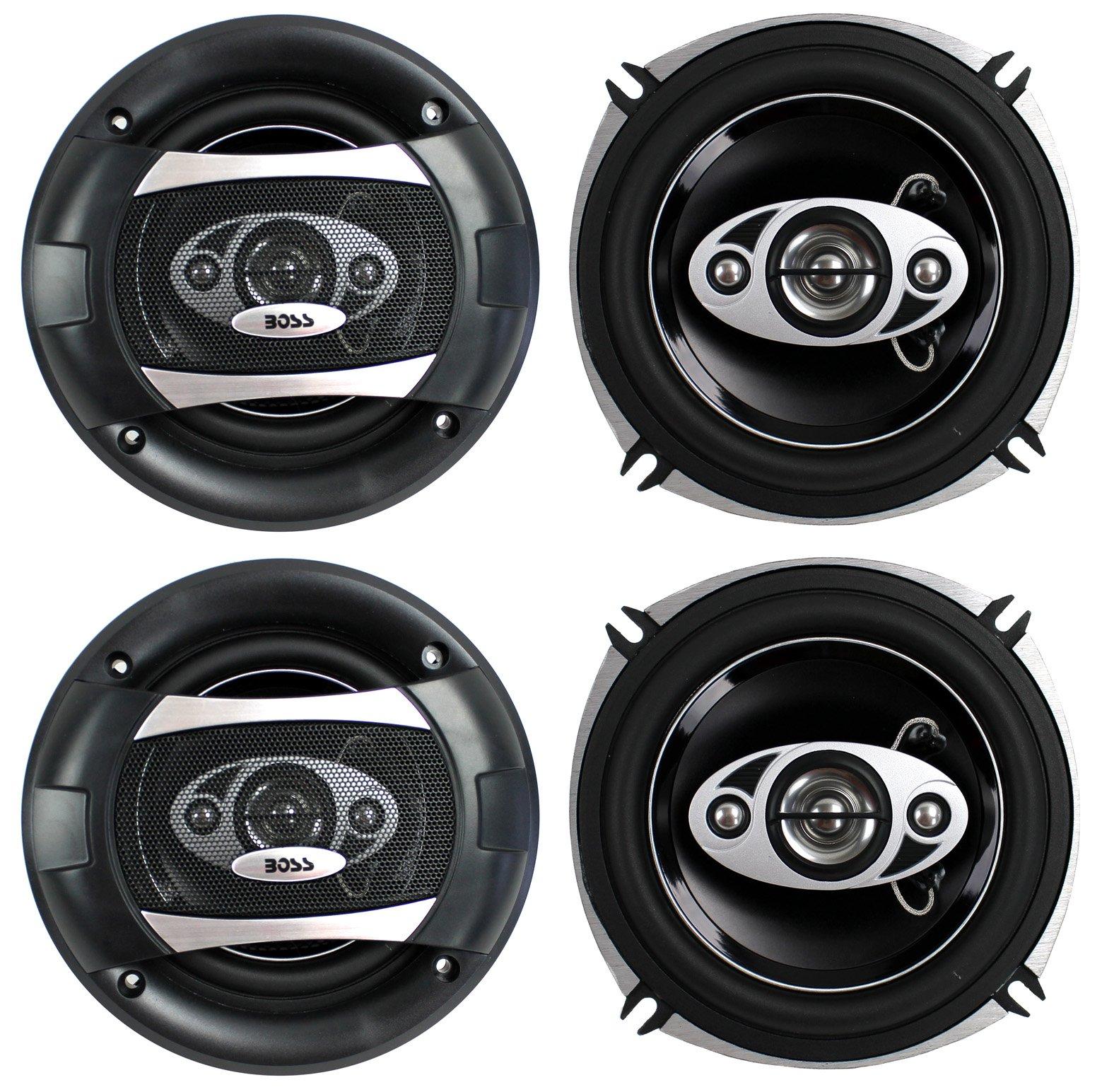 "4) BOSS P55.4C 5.25"" 600W 4-Way Car Coaxial Audio Speakers Stereo P554C 2 PAIR"