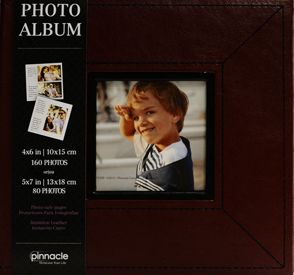 2Tone Red Frame Front Photo Album