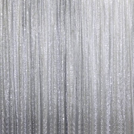 BalsaCircle 20 ft x 10 ft Sequins Backdrop Drapes Curtain - Wedding Party Photobooth Ceremony Event Home Decorations