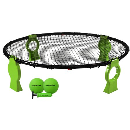 Dunlop STEEL FRAME 360-Degree Spike Battle Game Set with 2 Balls and Air Pump, Folding Leg with Storage (Folding A Dollar Bill Into A Ring)