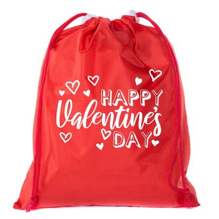 Valentine's Day Bags, Mini Drawstring Cinch Backpacks, Valentines Day Gift (Valentine's Day Gift Bags)