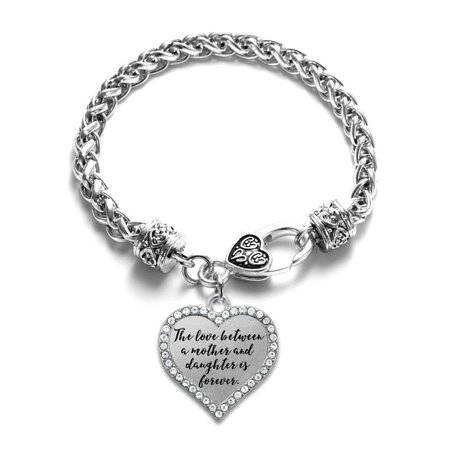 Mother and Daughter Bond Open Heart Charm - Mother Daughter Charm Bracelets
