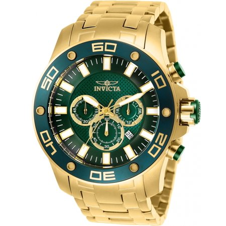 Invicta Men's 26077 Pro Diver Quartz Chronograph Green Dial Watch