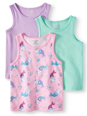 131f60db Product Image Garanimals Solid and Printed Tank Tops, 3pc Multi-Pack (Toddler  Girls)
