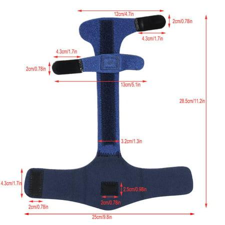 Garosa Adjustable Finger Brace, Adjustable Finger Splint Metacarpal Fracture Healing Mallet Finger Correcting Support Brace - image 7 de 8