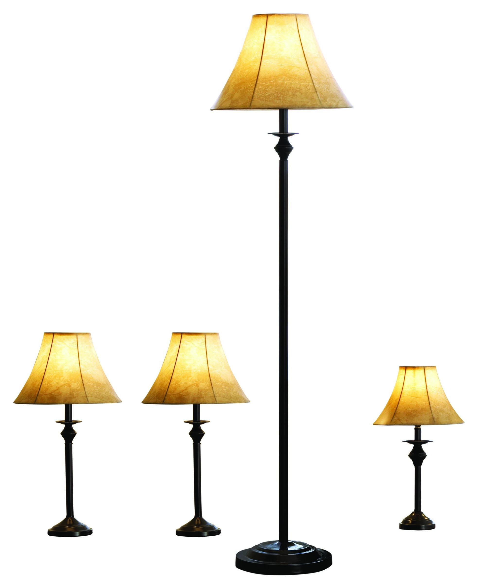 Better homes gardens 4 piece lamp set bronze finish walmart com