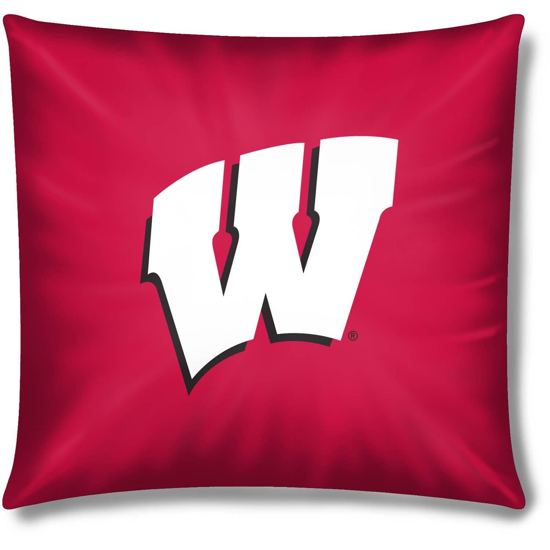 """NCAA Wisconsin Badgers Official 15"""" Toss Pillow"""
