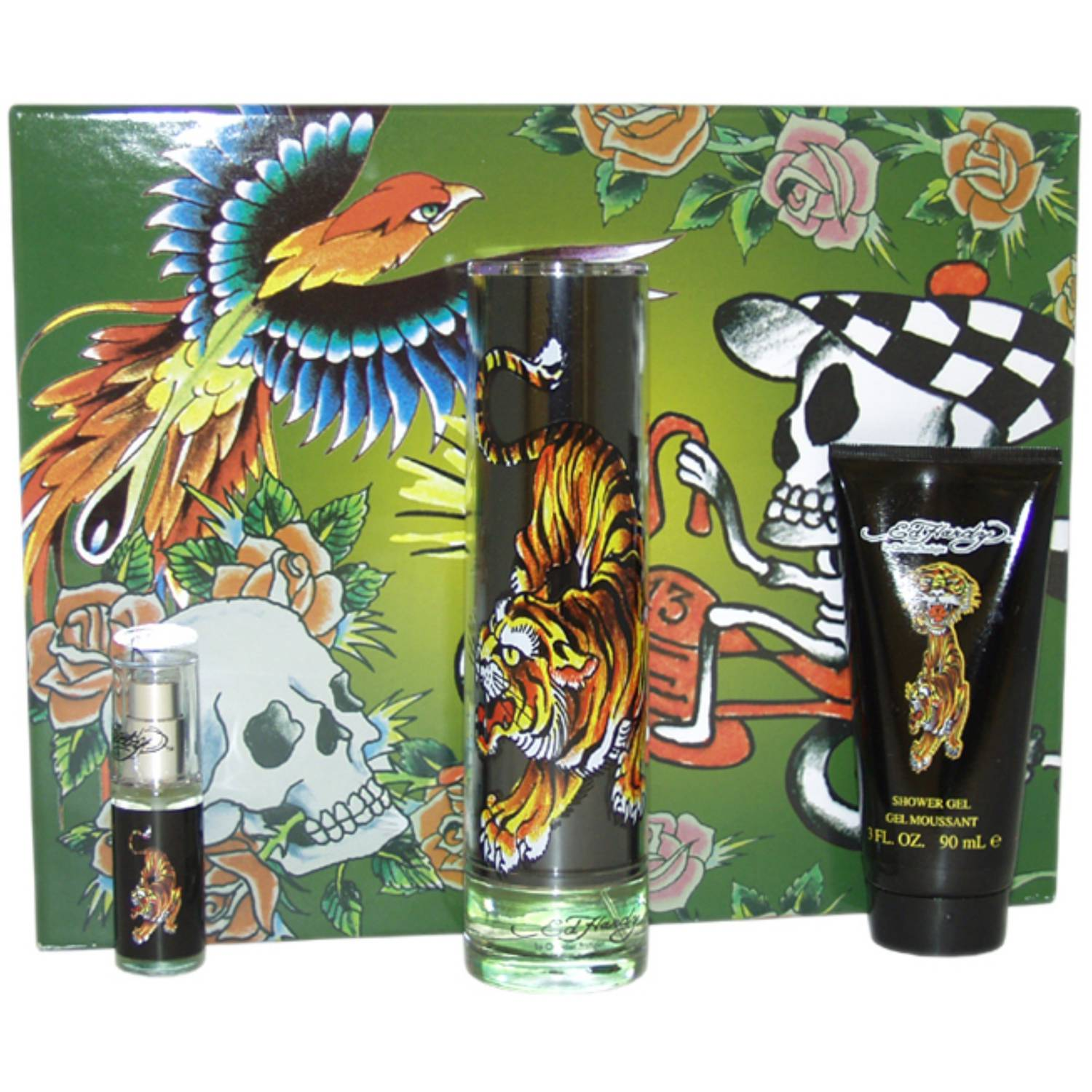 Christian Audigier Ed Hardy for Men Fragrance Gift Set, 4 pc