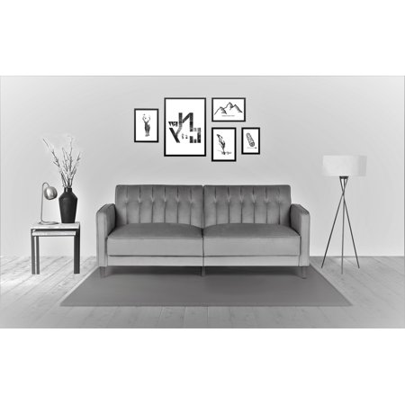 Us Pride Furniture Mariposa Luxury Mid Century Contemporary Sofa Bed Design Grey