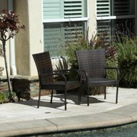 Orpheus Stackable 2-Piece Brown Wicker Outdoor Arm Chairs