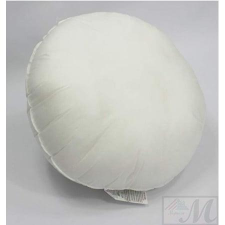 18-inch ROUND pillow Sham Stuffer White Hypoallergenic pillow Insert Premium Made in (Dream Pillow Sham Insert)