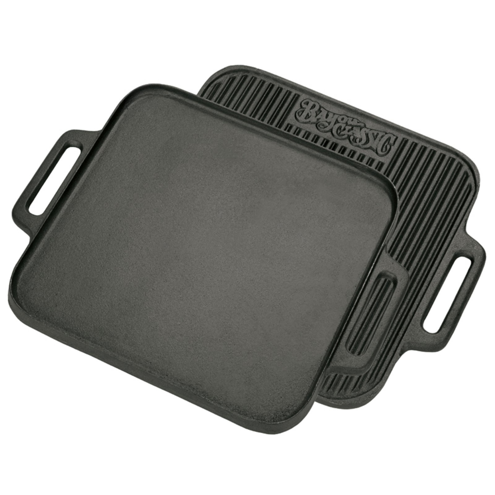 Bayou Classics Cast Iron Reversible Square Griddle