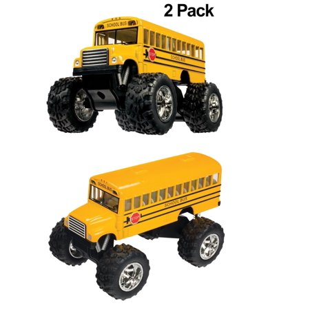 2 Pack Value Toysmith 5020 Monster Bus  5 Inch